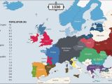 Middle Ages Map Of Europe the History Of Europe Every Year