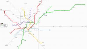 Milan Italy Metro Map Milano Metro Map