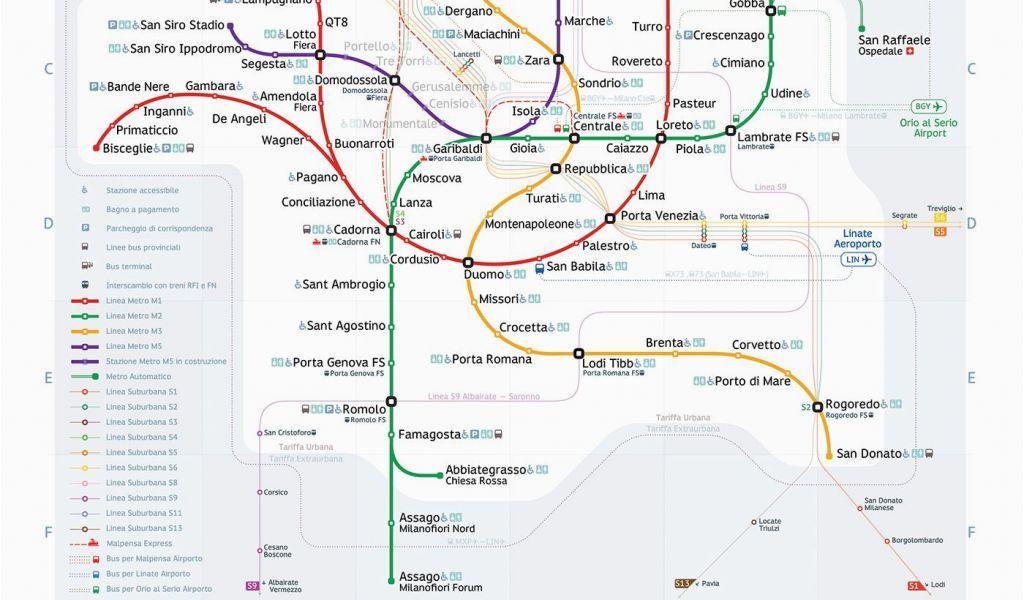 Milan Subway Map.Milan Michigan Map Milan Metro Map Transportation Pinterest Milan