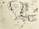 Mines Of Spain Map Die Klassische Karte Von Mittelerde Mit Handschriftlichen Notizen