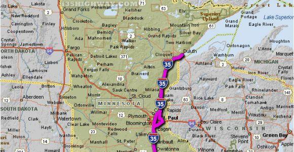 Minnesota Highway Closures Map Minnesota Hwy Map Secretmuseum