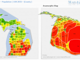 Minnesota Population Density Map Us Michigan Map County Population Density Maps4office