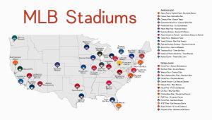 Minnesota Twins Stadium Map Map Of Us Baseball Stadiums Roadtrip Elegant Stadium Map Stadium