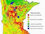 Minnesota Watershed Map Ground Water Contamination Susceptibility In Minnesota Map Via the