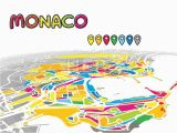 Monaco France Map Monaco Monaco Downtown Map In Perspective Monaco Map