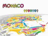 Monaco Map Of Europe Monaco Monaco Downtown Map In Perspective Monaco Map