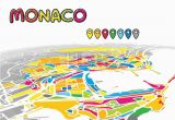 Monaco On Europe Map Monaco Monaco Downtown Map In Perspective Monaco Map