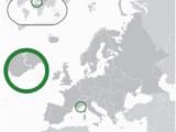 Monaco On Map Of Europe Monaco Wikipedia