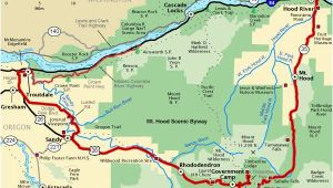 Monmouth oregon Map Mt Hood Scenic byway Map America S byways Camping Rving