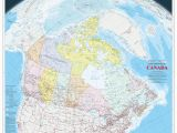 Montreal Canada Map On the World Canada Wall Map Large English French atlas Of Canada