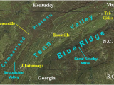 Mountains Tennessee Map Landform Map Of Tennessee Major Landforms Of East Tennessee