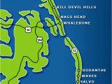 Nags Head north Carolina Map Fishing the Outer Banks