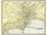 Naples Italy Google Maps 1895 Antique Naples Italy City Map Reproduction Print Map Of Etsy