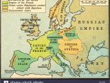 Napoleonic Europe 1812 Map Historical Map Of Europe Stock Photos Historical Map Of