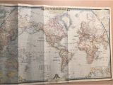 National Geographic Map Of Europe Large Vintage 1951 Map Of the World original National Geographic Map