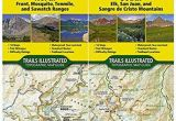 National Geographic Maps Colorado Colorado 14ers topographic Trail Map Guide Set National Geographic