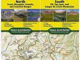 National Geographic Maps Colorado Colorado 14ers topographic Trail Map Guide Set National Geographic
