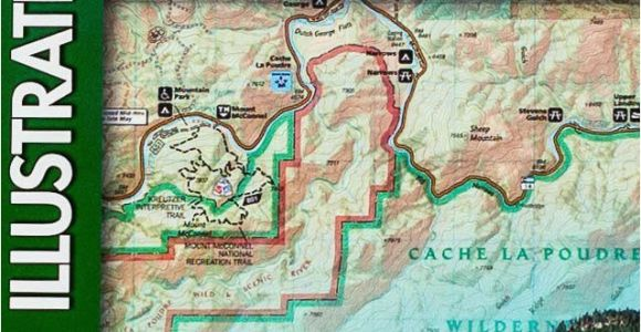 National Geographic Maps Colorado Trails Map Of Cache La Poudre Big Thomson Colorado 101