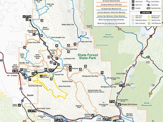 National Parks Colorado Map Colorado National forest Map ...