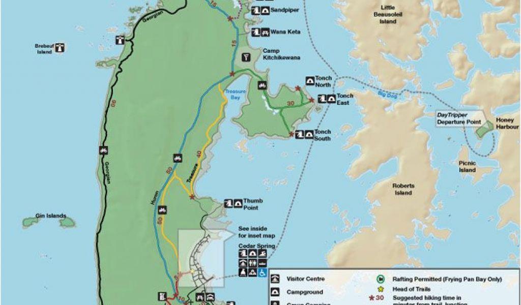 National Parks In Georgia Map Parks Canada Georgian Bay islands ...