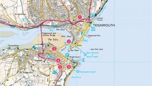 Natural England Maps Explore Shaldon From Teignmouth Print Walk south West