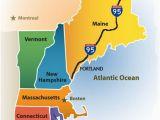 New England America Map Greater Portland Maine Cvb New England Map New England Maps In