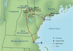 New England Canada Map Railroading New England Smithsonian Journeys