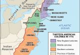 New England Colonies Maps Proclamation Of 1763 History Map Significance Facts