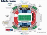 New England Patriots Stadium Map 64 Unmistakable Gillete Stadium Seating Chart