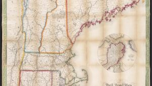 New England Railroad Map File Telegraph and Rail Road Map Of the New England States