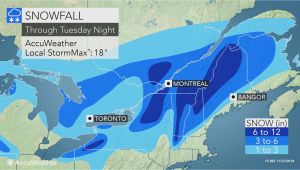 New England Snow Accumulation Map nor Easter to Lash northern New England with Coastal Rain