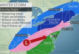 New England Snow Cover Map Midwestern Us Wind Swept Snow Treacherous Travel to Focus