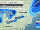 New England Snow Depth Map Disruptive Snow Precedes Midweek Arctic Blast Across northeastern Us