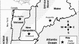 New England States and Capitals Map Map Quiz States and Capitals New England Map Quiz Printout