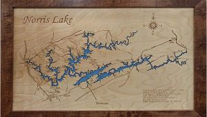 Norris Lake Tennessee Map Amazon Com norris Lake Tennessee Framed Wood Map Wall Hanging