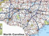 North and south Carolina Map with Cities north Carolina Road Map