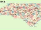 North Carolina City and County Map Road Map Of north Carolina with Cities