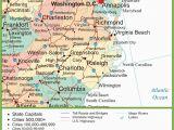 North Carolina Coastal Cities Map Map Of Virginia and north Carolina