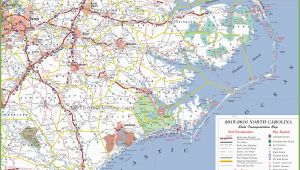 North Carolina Coastal Map north Carolina State Maps Usa Maps Of north Carolina Nc