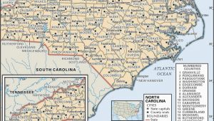 North Carolina County Maps with Cities State and County Maps Of north Carolina