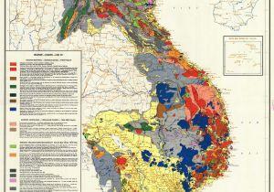 North Carolina Geologic Map Vietnam Cambodia Lao Geology Map 1971 Map Geology Vietnam