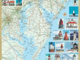 North Carolina Lighthouses Map Mid atlantic Lighthouses Map the Illustrated Map and Guide to All