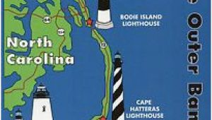 North Carolina Lighthouses Map Outer Banks Lighthouses State Map Cape Hatteras north Carolina 5