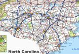North Carolina Map with Cities and towns north Carolina Road Map