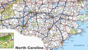 North Carolina Road Map with Counties north Carolina Road Map