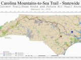 North Carolina Skiing Map Mountains to Sea Trail Mst Maplets