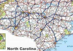 North Carolina State Map Showing Counties north Carolina Road Map