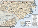 North Carolina State Map with Cities and towns State and County Maps Of north Carolina