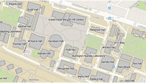 North Carolina State University Campus Map Nc State University