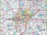 North Texas City Map Dallas area Road Map